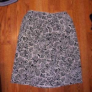 Vintage Josephine Chaus Polyester Silk Skirt